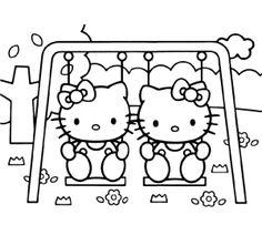 kleurplaten hello kitty princess