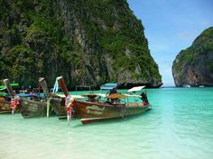 this is Phi Phi island.   It is near Phucket, Thailand.