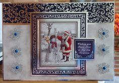 Christmas Card - - makings from Hunkydory Hand Made Greeting Cards, Making Greeting Cards, Hunky Dory, Christmas Inspiration, A5, Birthday Cards, Card Ideas, Christmas Cards, Projects To Try