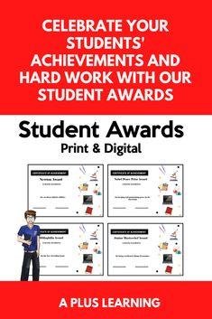Digital Certificate, Certificate Of Achievement, Student Awards, High School Students, My Teacher, Work Hard, Success, Peace, Tools