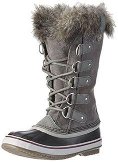 Sorel Women's Joan Of Arctic Boot (9.5 B(M) US / 40-41 EUR, Quarry / Black) #CuteShoes, #OutdoorShoes, #Shoes, #Women'SShoes