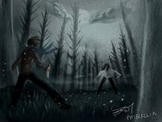 Homicidal Liu vs Jeff The Killer by Priscellia on DeviantArt (Looks great with the snow!)
