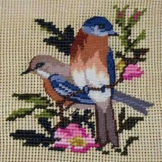 This Pin was discovered by ele Cross Stitch Pillow, Cross Stitch Heart, Cross Stitch Borders, Cross Stitch Flowers, Cross Stitching, Christmas Embroidery Patterns, Bird Embroidery, Hand Embroidery Stitches, Cross Stitch Embroidery
