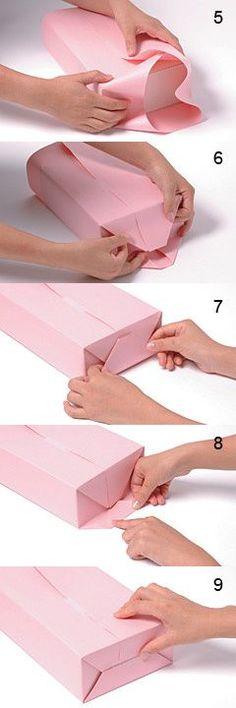 {Tutoriel} Ou comment faire un emballage cadeau propre et beau... Parce que, oui, c'est la base d'un beau cadeau! Sur la page, une seconde méthode de pliage pour un effet pochette à rabat... Maman-c-bo