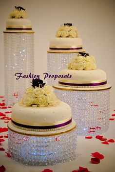 Wedding Cake Stand Cascade waterfall crystal by FashionProposals