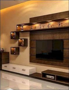 Tv wall decor, tv wall design и interior design kitchen. Tv Unit Interior Design, Tv Unit Furniture Design, Tv Wall Design, Design Case, Lcd Unit Design, Stand Design, Bedroom Interior Design, Bedroom Tv Unit Design, Drawing Room Wall Design
