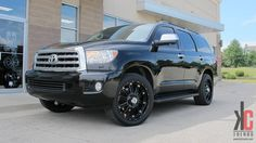 KC Trends - Showcase - XD Hoss wheels in full gloss black mounted on a Toyota Sequoia. Toyota Sequioa, Young Cute Boys, Luxury Suv, Wheels And Tires, Cool Cars, Trucks, Cool Stuff, Black, Pickup Trucks