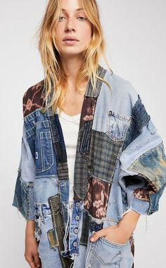 #denim #denimjacket #jeans #patchwork #boho #vintagefashion