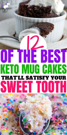 12 Delicious Keto Mug Cakes That Will Keep You In Ketosis (And Satisfy Your Sweet Tooth) Brownies Keto, Low Sugar Cakes, Low Carb Mug Cakes, Desserts Keto, Low Sugar Desserts, Keto Snacks, Low Sugar Snacks, Low Sugar Diet, Keto Diet Vegetables
