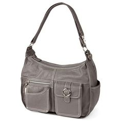 Rosetti® Riveting Hobo Bag with Bonus Wallet - jcpenney...$35. The same purse in silver/gray.