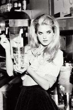 Oh yes, hair and styling! 1950's style black and white photography by Ellen von Unwerth