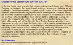 Rohit Bhargava's content curator's manifesto.  This is his description what is involved in the role a content curator (from 2009).