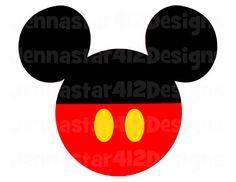 Mickey Head Mickey DIY Printable Iron On Transfer Digital File