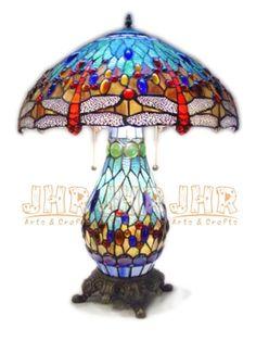 Tiffany Glass & Dragonflies ...