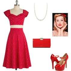 """Pin Up Girl"" by cdablemont-1 on Polyvore"