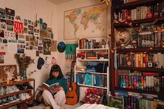 library magic 📚💫 // I'm not sure exactly when my small collection of thirty-ish books grew to something closer to three hundred, but man, nine-year old linh is elated. books (their contents, re Dream Rooms, Dream Bedroom, My Room, Dorm Room, College Room, Bedroom Inspo, Bedroom Decor, Library Bedroom, Ish Book