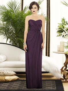 Dessy Collection Style 2882    Fabric: Lux Chiffon, Aubergine