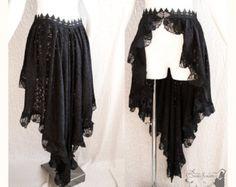 Capelet Victorian gothic shrug Steampunk black by SomniaRomantica