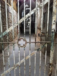 Hospital Wing at Eastern State Penitentiary. Every time I glance at this photo, I see a nurse at the end of the hall.