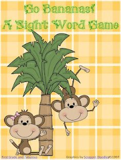 Go Bananas Sight Word Game