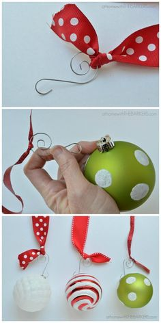Decorating with plastic ornaments!