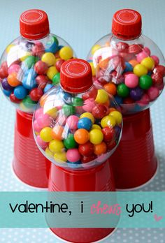 Homemade Bubble Gum machines!