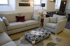 Felix 3 Seater Sofa + Armchair Light Grey Fabric Two Piece Compact Suite Stylish