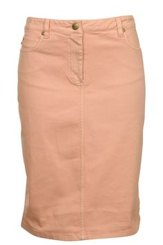 Aero, Frida Twill Jean Skirt, peach