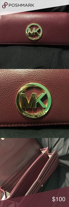 Michael Kors authentic wallet Burgundy Michael kors wallet. Gently used. Perfect condition Michael Kors Bags Wallets