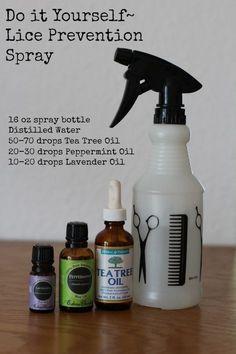 Luniquely Maggie: DIY Recipe~ Lice Prevention Spray with Essential Oils!  Just in case
