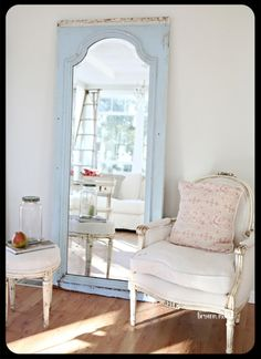 painted chair and mirror