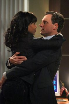 """So scandalous. It looks like Tony Goldwyn's on-and-off screen wife both have a problem with his undeniable chemistry with Olivia Pope played by Kerry Washington on the ABC hit show """"Scandal. Scandal Tv Series, Scandal Abc, Scandal Quotes, Glee Quotes, Fitzgerald Grant, Afro, Olivia And Fitz, Olivia Pope Style, Kerry Washington"""