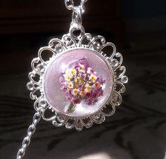 Beautiful real flower bouquet necklace   Seasonal Remedies