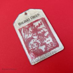 morena's corner: Make Embossed Acrylic Christmas Tags with Podgeable shapes and glitter Mod Podge