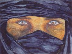 Aquarell: Tuareg - Jutta Bachmann