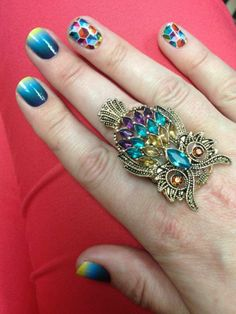 Deep Sea & Kaleidoscope Buy 3, Get 1 free Sheet! Krenner.jamberrynails.net #nails #nailart #jamberry #jamberrynails #manicure #pedicure