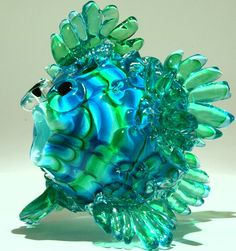 Art Glass Blow Fish from Kela's...a glass gallery on Kauaii