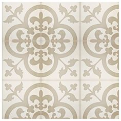 The SomerTile Cement Empress Beach Cement Floor and Wall Tile offers the authenticity of cement tile. These tiles are constructed on a 1 cement base, and then have color poured into m Online Tile Store, Tiles Online, Floor Patterns, Tile Patterns, Bathroom Floor Tiles, Wall Tiles, Patchwork Tiles, Cement Walls, Thing 1
