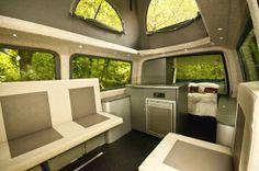 VolksWagen: furgoneta de lujo para irse de acampada  Foto interior