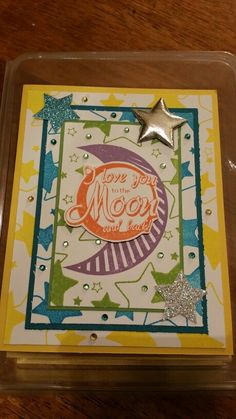 "Moon & Back card using ""free"" Shooting Star Elements on page 5."