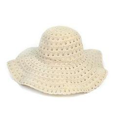 Koronkowy kapelusz na lato