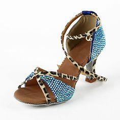 Femmes similicuir / strass supérieur cheville Strap Chaussures de danse latine / salsa (Plus de couleurs) - EUR € 41.24