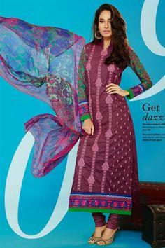 Lisa Haydon Purple Color Cotton Suit