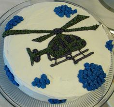 Helicopter Piped Cake