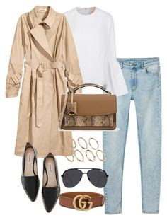 """""""Untitled #4118"""" by theeuropeancloset on Polyvore featuring Monki, Roksanda, CHARLES & KEITH, Gucci, Quay and Pieces"""