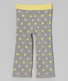 Take a look at this Agabang Lime & Gray Polka Dot Pant - Infant, Toddler & Kids on zulily today!