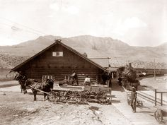 Today's picture is from 1910 and it shows Mount Washington Railway trains at a Depot in White Mountains, New Hampshire. Description from old-photos.blogspot.com. I searched for this on bing.com/images