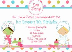 Image result for girls pamper party invitation