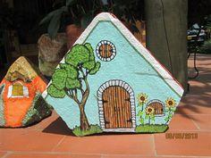Linda casa verde