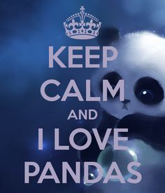 KEEP CALM AND I LOVE PANDAS. Another original poster design created with the Keep Calm-o-matic. Buy this design or create your own original Keep Calm design now. Cant Keep Calm, Stay Calm, Keep Calm And Love, My Love, Keep Calm Posters, Keep Calm Quotes, Panda Images, Keep Clam, Keep Calm Signs
